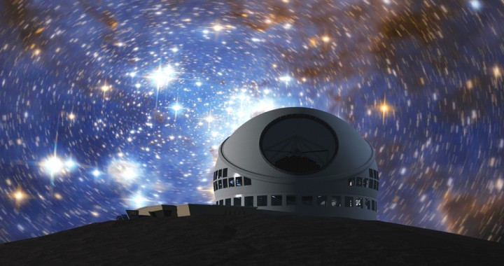 Artist's Impression of the TMT. October 7, 2014, Hawaii time, is the day when the ground breaking ceremony for the Thirty Meter Telescope (TMT) in which India is a partner.